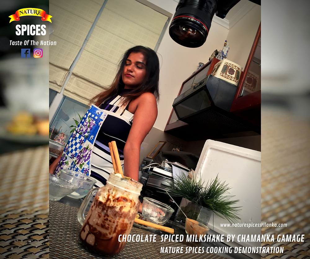 Chocolate Spiced Milkshake By Chamanka Gamage - Nature Spices Cooking Demonstration Series 01 | Recipe 002