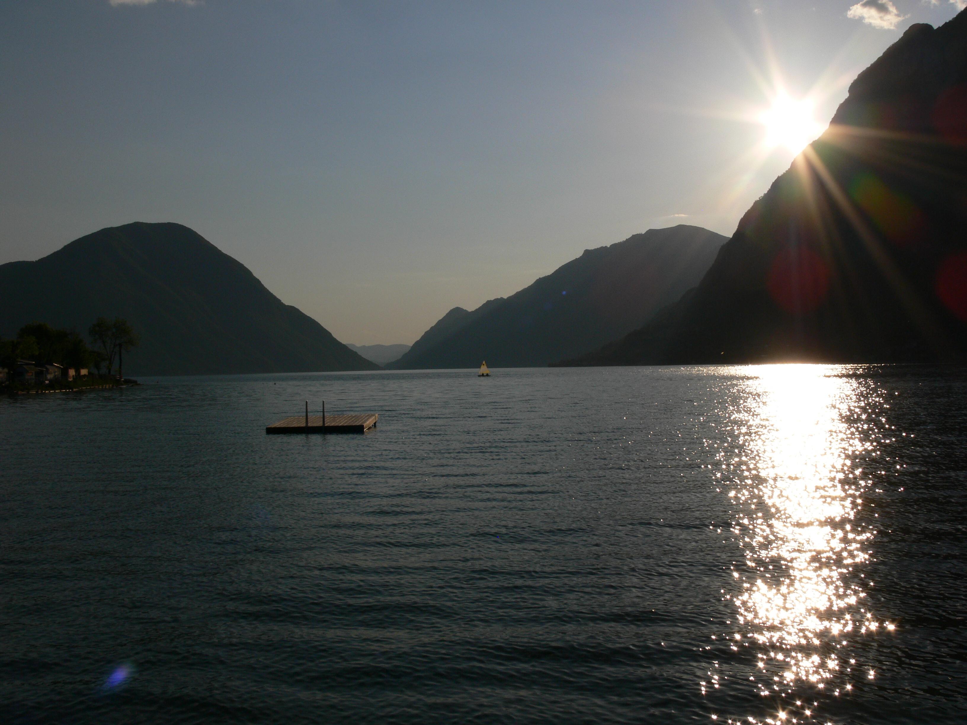 Sonnenuntergang in Porlezza - Italien
