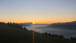 Sonnenuntergangsstimmung in Sulzberg - Bregenzerwald