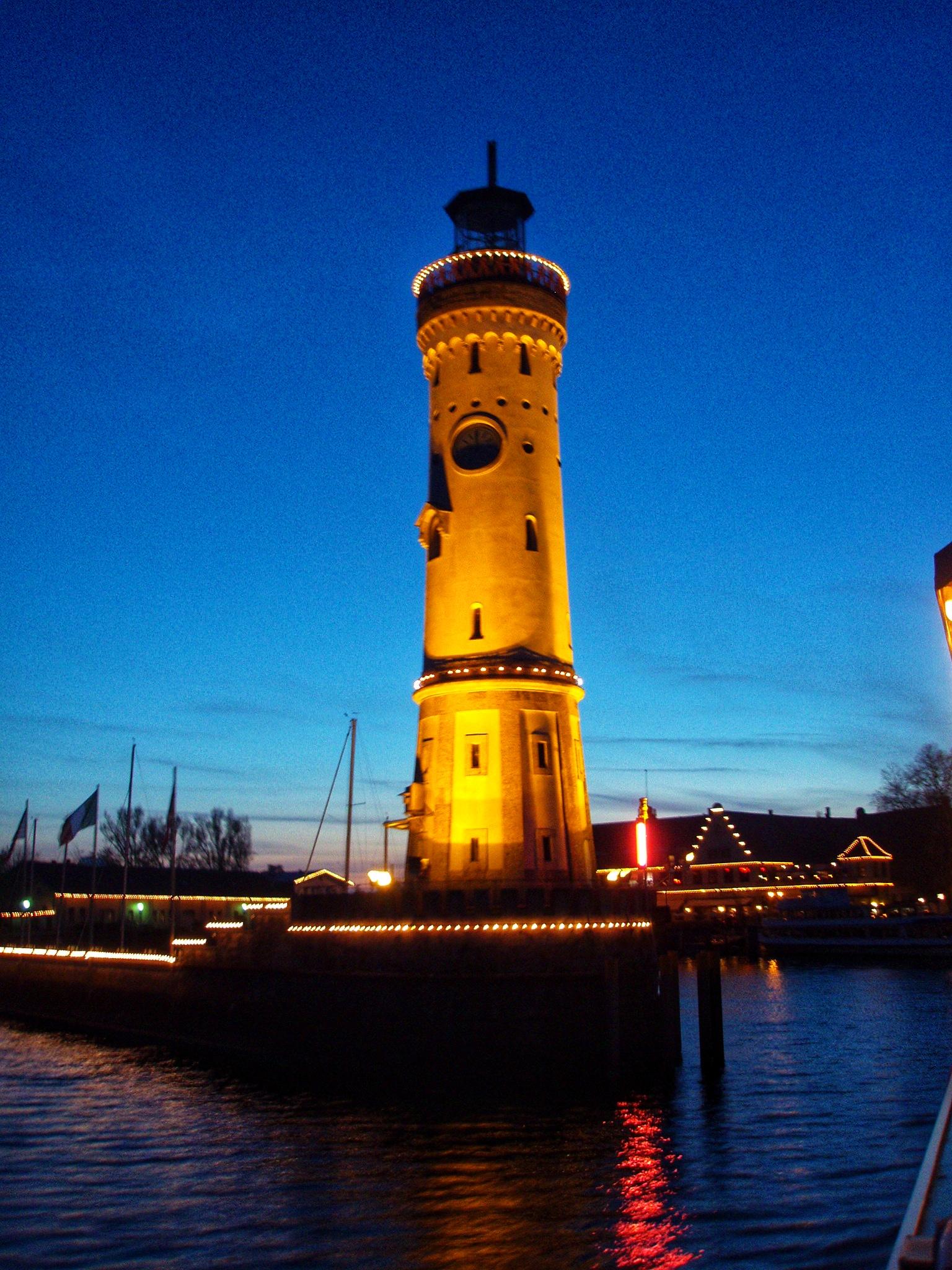 Abends in Lindau (Deutschland)
