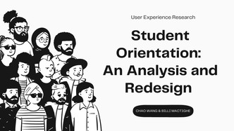 Student Orientation: An Analysis and Redesign