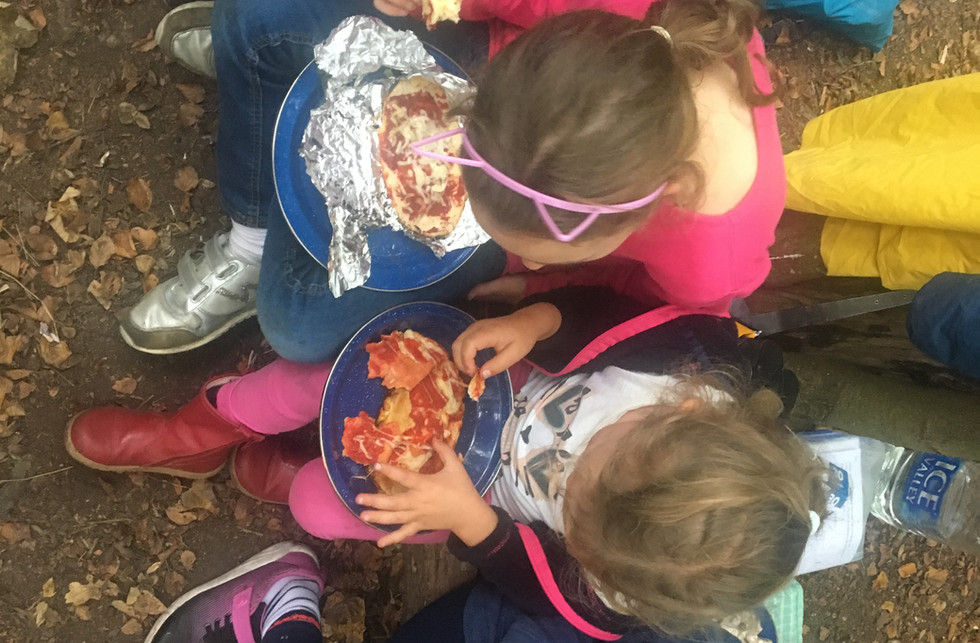 shared lunch ...prepared over the fire.J