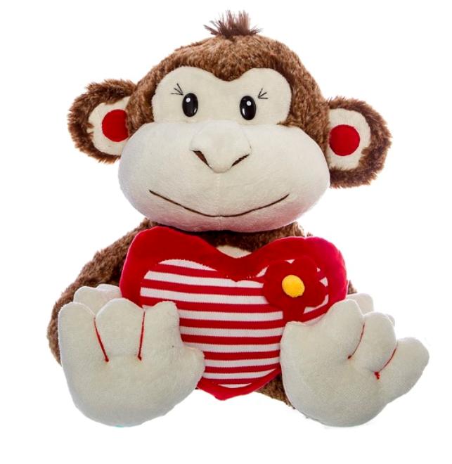 Marty Monkey Heart 32cm
