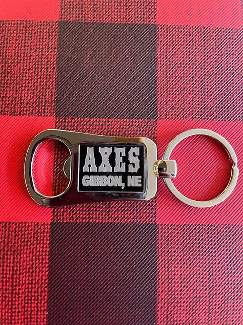 Axes Keychain Bottle Opener
