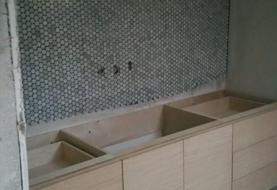 Bathroom Cabinetry Rebuild Process