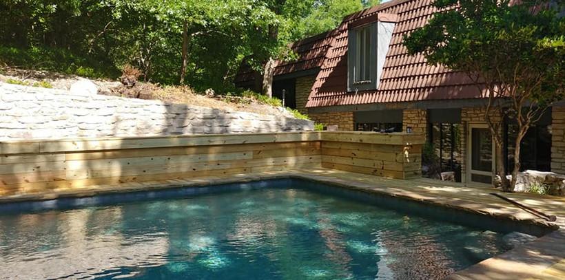 Wood Pool Deck Complete