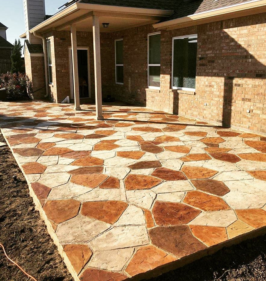Finished Etched Concrete Patio