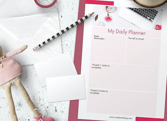 Canva Daily Planner Template Printable