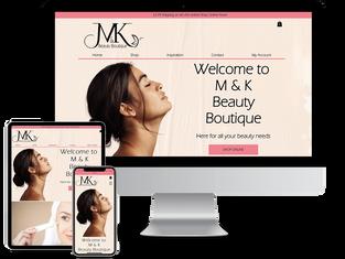 M & K Beauty Boutique Website Design