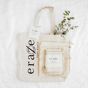 plastic free, sustainable products, reusable bags, reusable products, eraze, eraze waste, cotton bags, sustainable products, zero waste kit, zero waste, cloth produce bags
