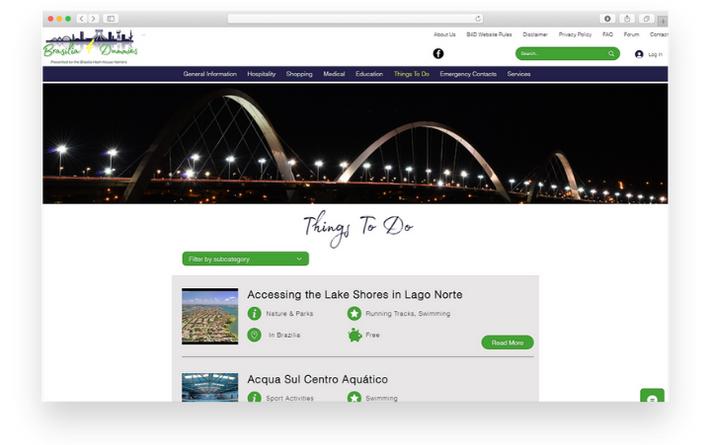 Desktop Website Mockup