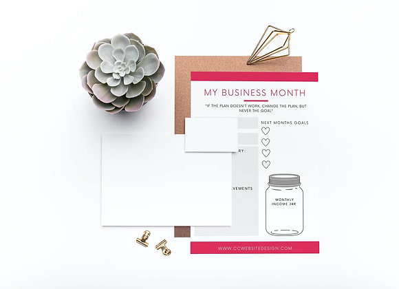 Monthly Business Planner Canva Template