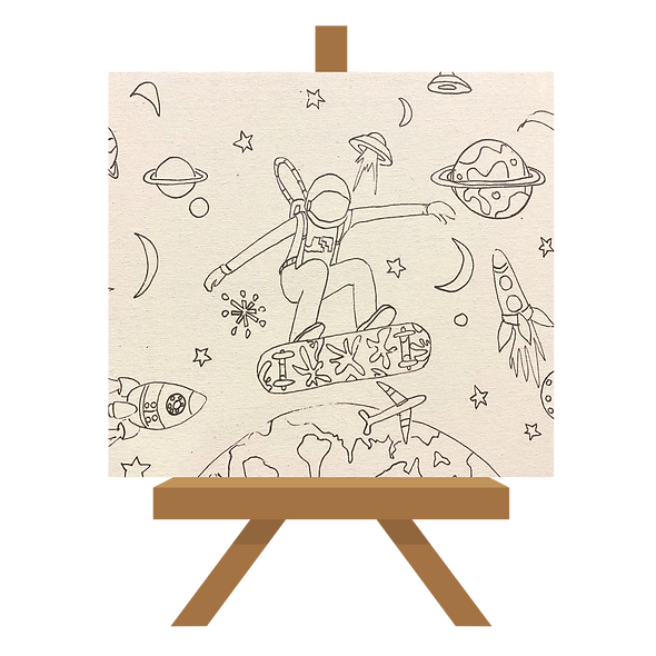 Space Surfer Canvas 30x24cms Ready to Paint