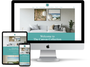 The Canvas Collection Website Design