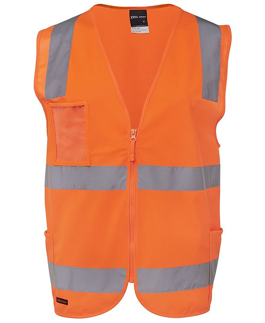 HI VIS (D+N) ZIP SAFETY VEST 6DNSZ