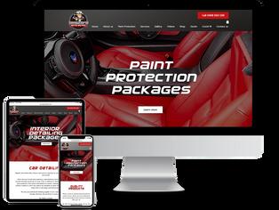 car detailing website design