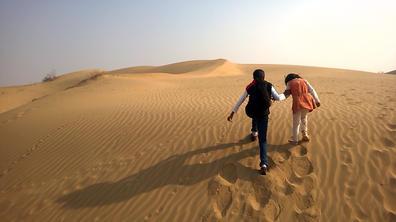 Sunil Kumar's kids exploring the desert!