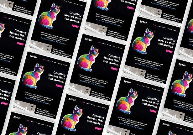 Stunning, website design mockup scrolling background