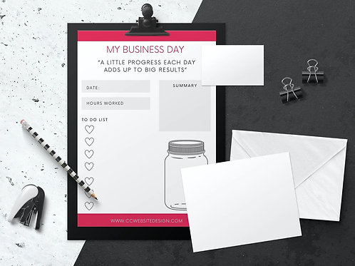 Daily Business Planner Canva Template