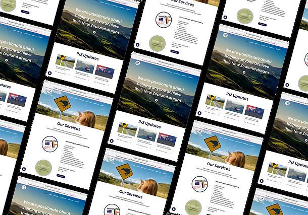 New Zealand Immigration Services Website Design