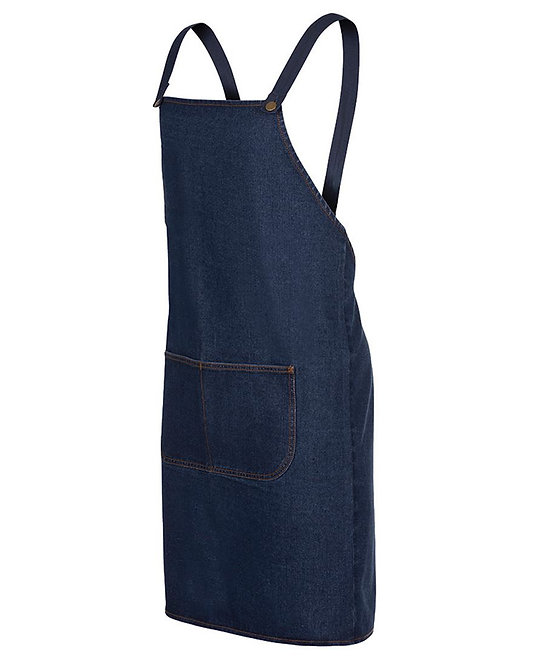 CROSS BACK DENIM APRON STRAPS INCLUDED 5ACBD