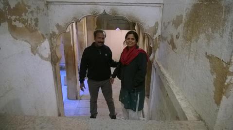 Sunil Kumar and his wife