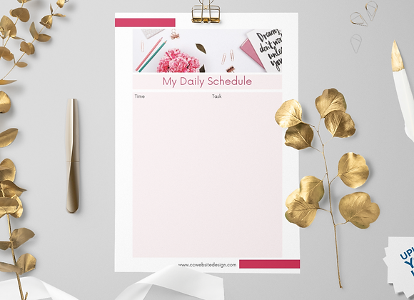 Canva Daily Schedule Template Printable