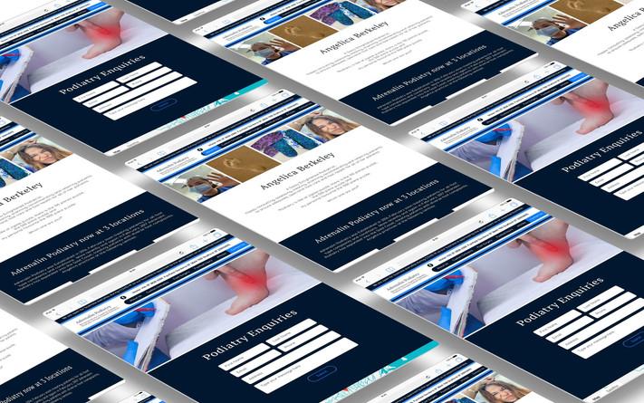 podiatry-website-design-screen-mockup