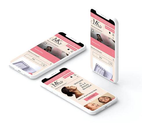 Beauty Website Design Mobile Mockup