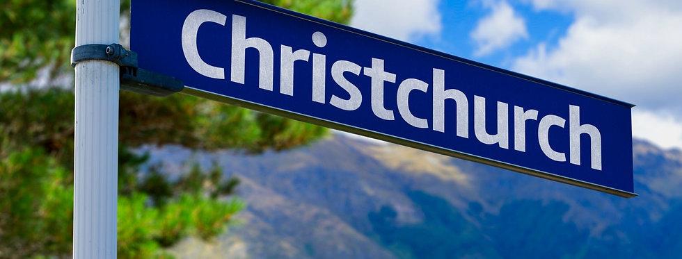 Christchurch Road Sign