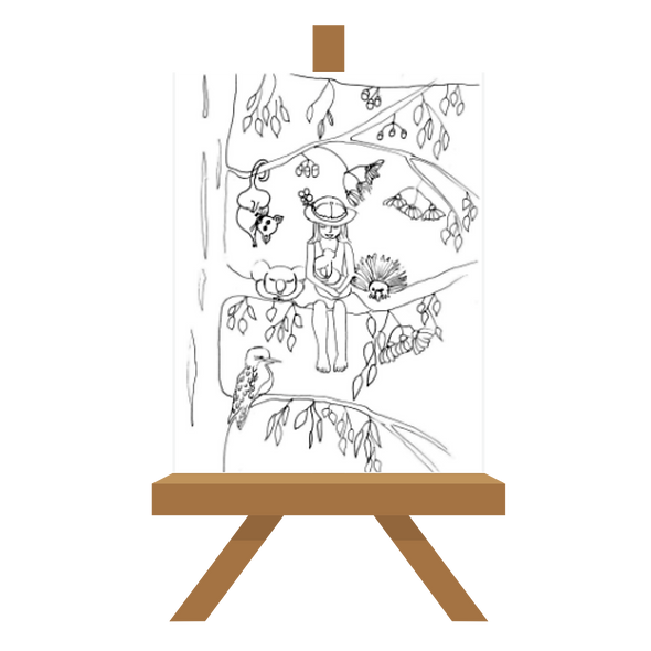Koala Love Canvas 30x24cms Ready to Paint