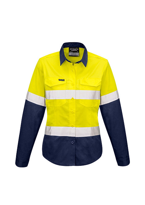 ZW720 Womens Rugged Cooling Taped Hi Vis Spliced Shirt