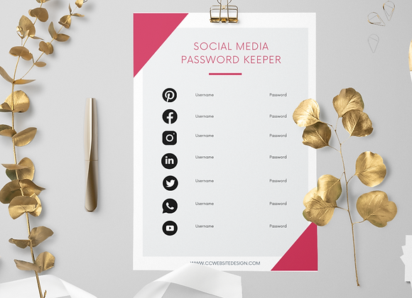 Canva Social Media Password Keeper