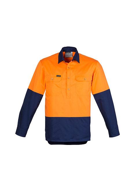 ZW560 Mens Hi Vis Closed Front L/S Shirt