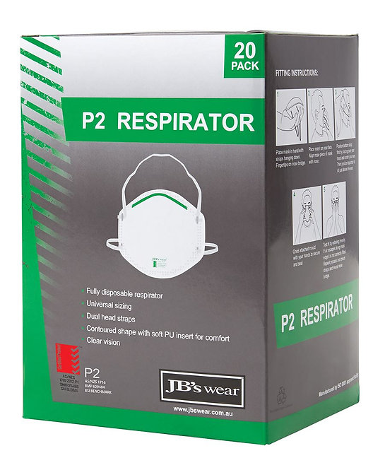 P2 RESPIRATOR (20PC) 8C100