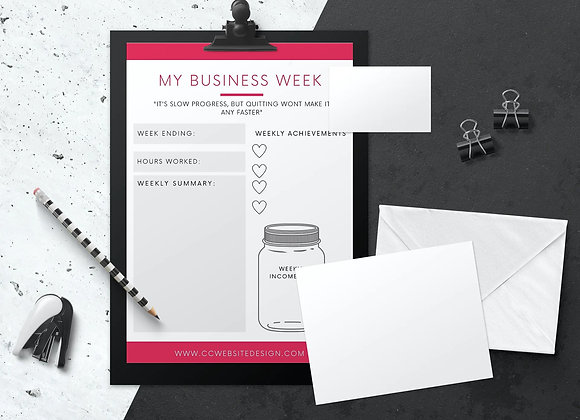 Weekly Business Planner Canva Template