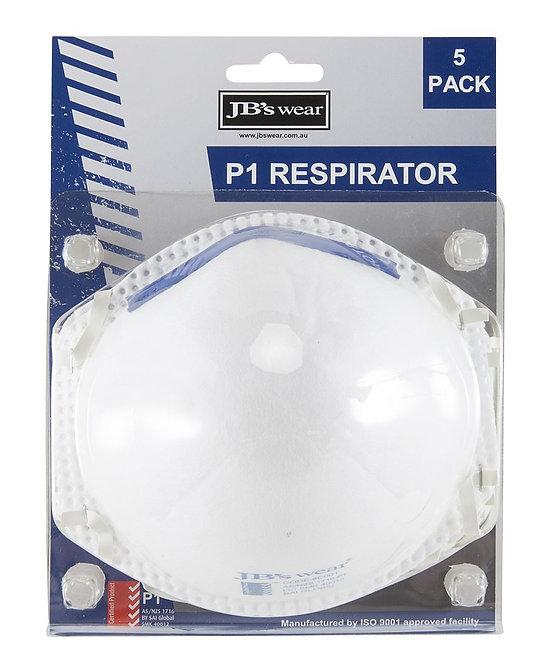 BLISTER (5PC) P1 RESPIRATOR 8C00