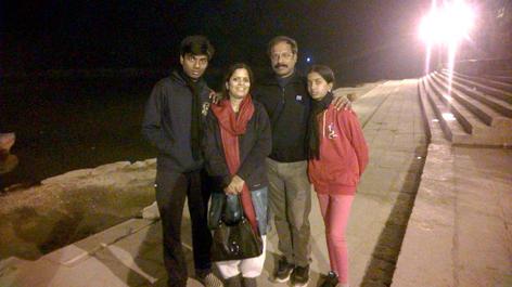 Sunil Kumar and family