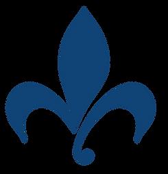 The Lafayette Company's logo, a fleur de lis