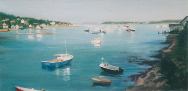 Peaceful Harbor III (Triptych)