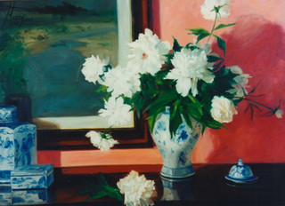 Peonies and Blue & White