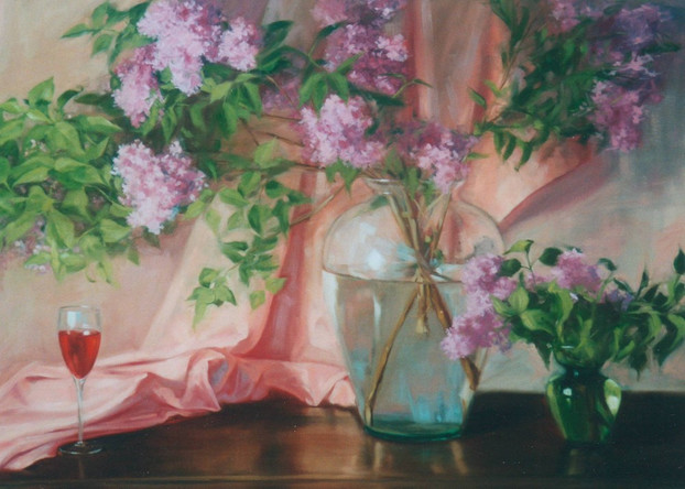 Lilacs and Glass