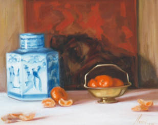 Tangerines and Blue & White