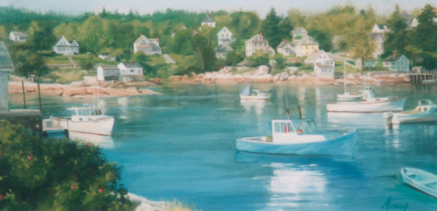 Peaceful Harbor I (Triptych)