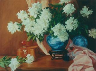 White Peonies & English Porcelain