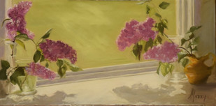 Lilacs in My Studio