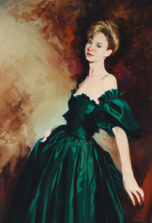 Woman in Green Gown