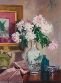 Peonies and Porcelain