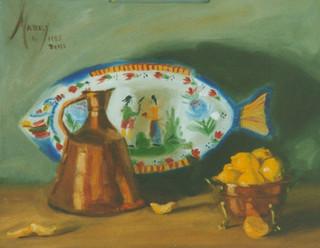 Quimper Platter and Lemons