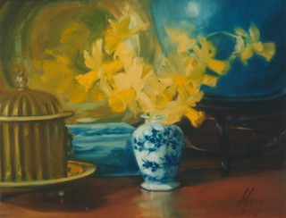 Daffodils in a Chinese Vase